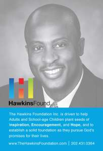The Hawkins Foundation postcard for Washington D.C. Foundation Donald Hawkins, one of a few marketing collateral pieces I created for this foundation.